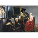 Puzzle  Art-by-Bluebird-60133 Johannes Vermeer - The Glass of Wine, 1661