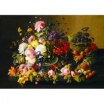 Puzzle  Art-by-Bluebird-Puzzle-60030 Severin Roesen - Still Life, Flowers and Fruit, 1855