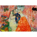 Puzzle  Art-by-Bluebird-Puzzle-60061 Gustave Klimt - The Women Friends, 1917