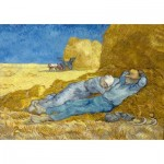 Puzzle  Art-by-Bluebird-Puzzle-60115 Vincent Van Gogh - The siesta (after Millet), 1890