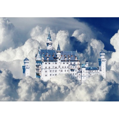 Puzzle Bluebird-Puzzle-70036 Neuschwanstein Castle in Clouds
