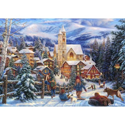Puzzle Bluebird-Puzzle-70053 Sledding To Town