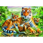 Puzzle  Bluebird-Puzzle-70137 Tiger And Cubs