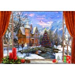 Puzzle  Bluebird-Puzzle-70190 Christmas Mountain View