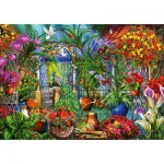 Puzzle  Bluebird-Puzzle-70258-P Tropical Green House