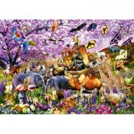 Puzzle  Bluebird-Puzzle-70495-P Two By Two at Noah's Ark