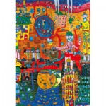 Puzzle   Hundertwasser - The 30 Days Fax Painting, 1996