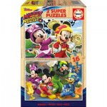 2 Holzpuzzles - Mickey and The Roadster Racers