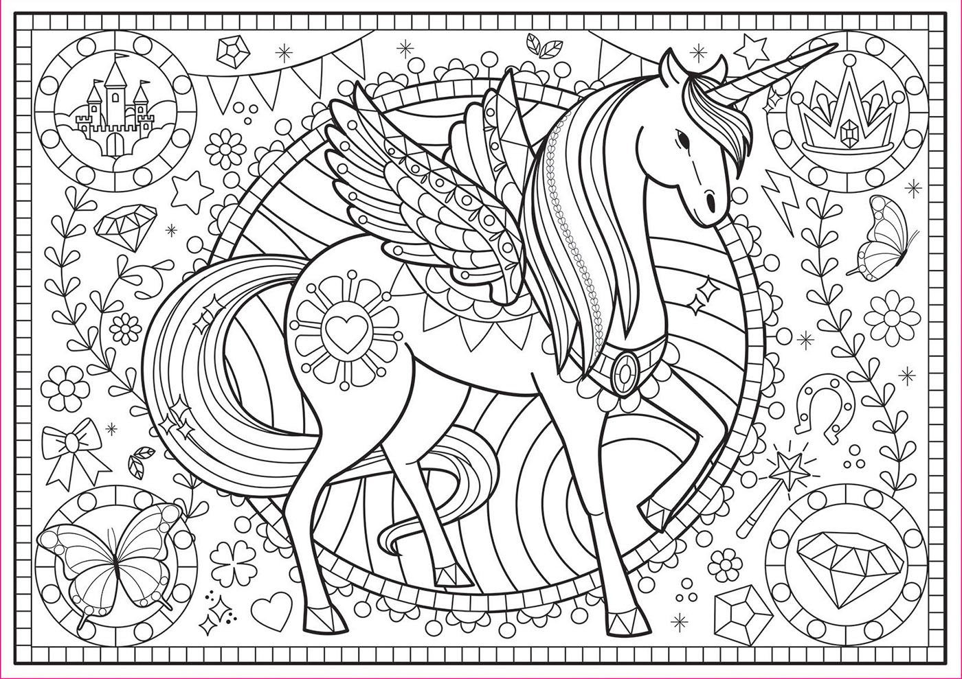Colouring Puzzles - Einhorn