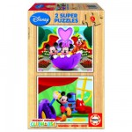 Educa-13467 Holzpuzzleset - Mickeys Club
