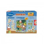 Puzzle  Educa-14406 Superpack 4 in 1 - Handy Manny