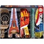 Puzzle  Educa-16757 Collage - Paris
