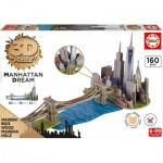 Educa-17000 3D Holzpuzzle - Brooklyn Bridge, Manhattan Dream