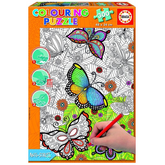 Colouring Puzzle - All Good Things are Wild and Free