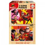 Educa-17626 Holzpuzzle - Incredibles 2