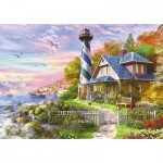 Puzzle  Educa-17677 Leuchtturm in Rock Bay