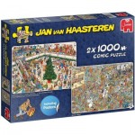 Puzzle   Jan van Haasteren - Holiday Shopping (2x1000 pieces)