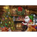 Puzzle   Santa by the Fireplace