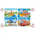 Puzzle  Castorland-041015 XXL Teile - Travel The World