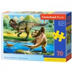 Puzzle  Castorland-070084 Dinosaurier
