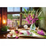 Puzzle  Castorland-104345 Still Life with Violet Snapdragons