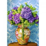 Puzzle  Castorland-104352 Bouquet of Hydrangeas