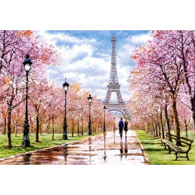 Puzzle Castorland-104369 Romantic Walk in Paris