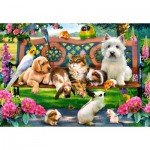 Puzzle  Castorland-104406 Pets in the Park