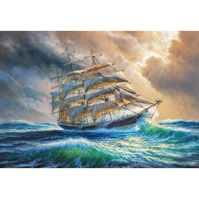 Puzzle Castorland-104529 Sailing against all Odds