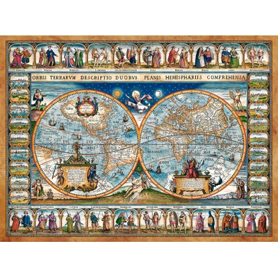 Puzzle Castorland-200733 Map of The World, 1639