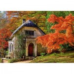 Puzzle  Castorland-52806 Gothic House in Autumn