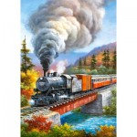Puzzle  Castorland-53216 Train Crossing