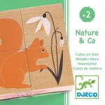 Djeco-01902 Holzpuzzle - Nature & Co