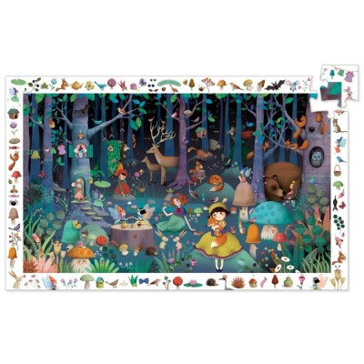 Djeco-07504 Entdecker Puzzle - Enchanted Forest