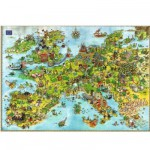 Heye-08854 Degano Puzzle: United Dragons