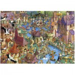 Puzzle  Heye-29496 Ruyer: Bunnytown