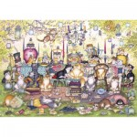 Puzzle  Gibsons-G2717 XXL Teile - Mad Catter's Tea Party