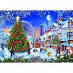 Puzzle  Gibsons-G3526 XXL Teile - Steve Crisp - The Village Christmas Tree