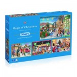 Gibsons-G5046 4 Puzzles - Trevor Mitchell - Magic of Christmas