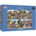 Gibsons-G5056 4 Puzzles - The Evacuees