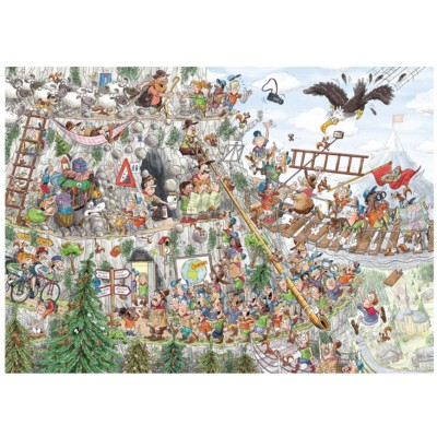 Puzzle Puzzelman-875 Scouts & Squirrels - In die Berge