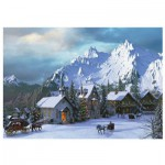 Puzzle  Eurographics-6000-0426 Dominic Davison: Weihnachten in den Rocky Mountains
