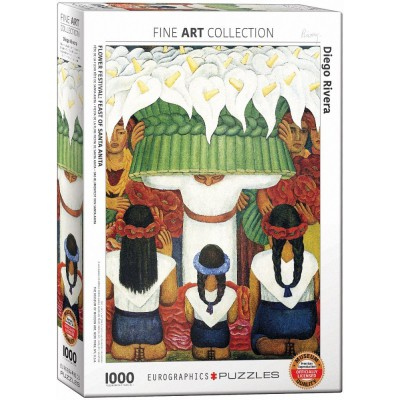 Puzzle Eurographics-6000-0798 Diego Rivera - Flower Festival