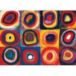 Puzzle  Eurographics-6100-1323 Kandinsky Vassily - Color Study of Squares