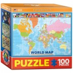 Eurographics-8104-1271 Mini Puzzle - World Map for Kids