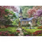Eurographics-8300-0964 XXL Teile - Familiy Puzzle: Dominic Davison - Blooming Garden