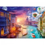 Puzzle  Schmidt-Spiele-59906 Lars Stewart - Venedig - Night and Day