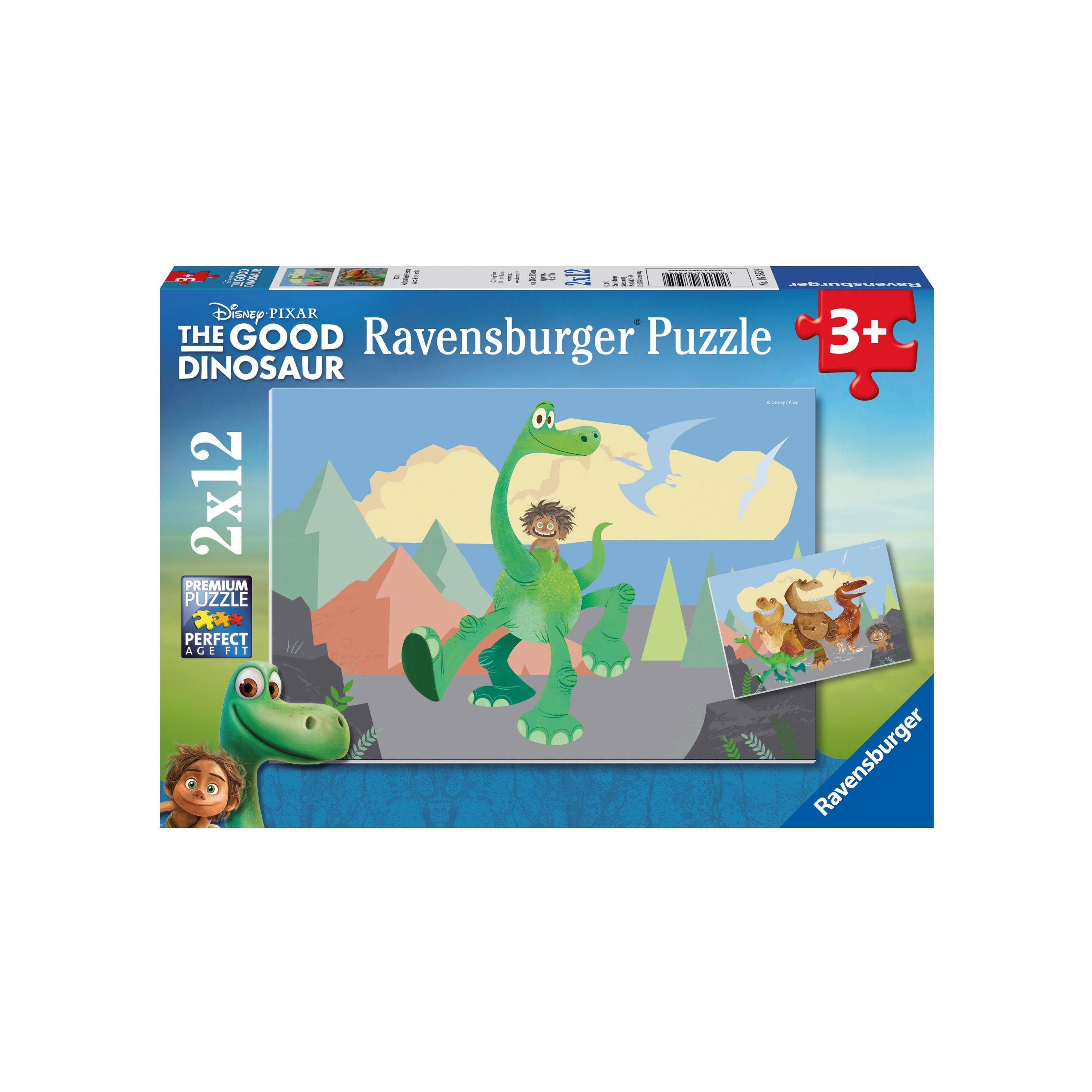 2 puzzles arlo und spot 12 teile ravensburger puzzle online kaufen. Black Bedroom Furniture Sets. Home Design Ideas