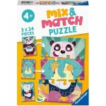 Mix and Match Puzzles - Funny Animals