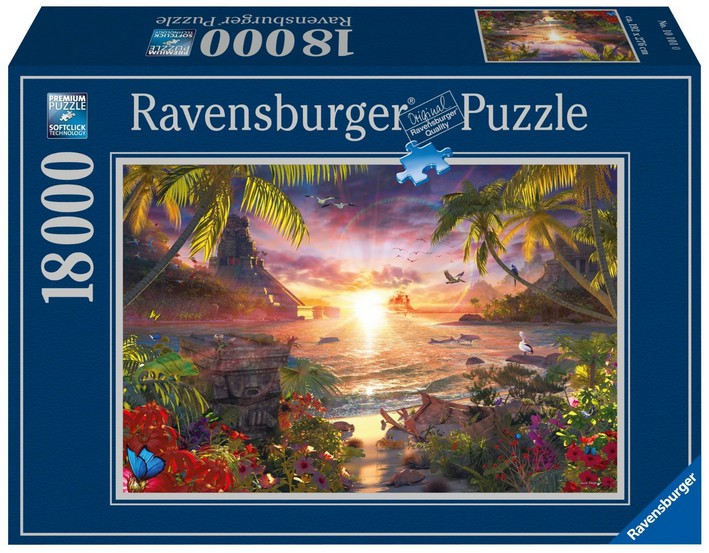 paradiesischer sonnenuntergang 18000 teile ravensburger puzzle online kaufen. Black Bedroom Furniture Sets. Home Design Ideas